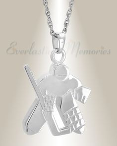 Sterling hockey player memorial pendants can assist you with paying your respects to the hockey player you lost