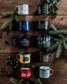 Hand-dipped enamelware that's safe to brandish over an open flame.