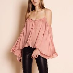"Bare Anthology Tops - ""Stars"" Bell Sleeve Peasant Top"
