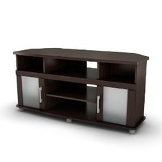South Shore City Life Collection Corner TV Stand, Chocolate (Kitchen)