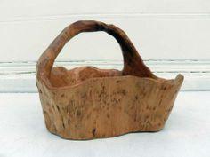 Large #wooden #basket with handle, available at #LA #Mecox #interiordesign #LosAngeles #MecoxGardens #furniture #shopping #home #decor #design #room #designidea #vintage #antiques #garden