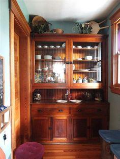 4455 Carnation Ave, Cincinnati, OH 45238 Wooden Kitchen, Rustic Kitchen, Country Kitchen, Vintage Kitchen, Victorian Interiors, Victorian Decor, Mission Style Kitchens, Bungalow Kitchen, Victorian Kitchen