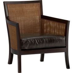Blake Lounge Chair with Leather Cushion in Chairs | Crate and Barrel