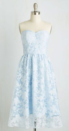 Shadow Box Dress  I SO Love sky blue color ~