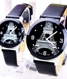 Đồng hồ cặp tháp Eiffel nghệ thuật NS003