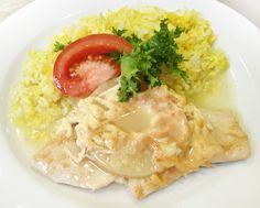 Denné menu Vranov | Gratinovaný kurací plátok s ovocím a syrom, dusená ryža s karí korením - reštaurácia Hotel Patriot*** #hotel #restaurant