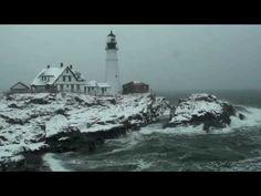Portland, Maine - USA  Head Light House ( Winter ) High Definition Wide ...