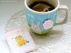 Adorable Easter tea bags and wrappers from www.red-brolly.com