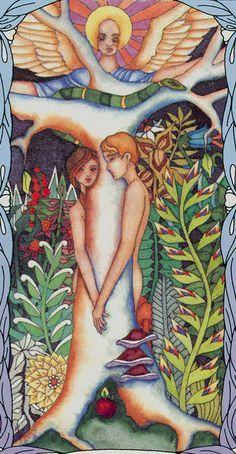 The Lovers from Tarot of a Moon Garden