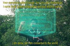 Technology magic hologram