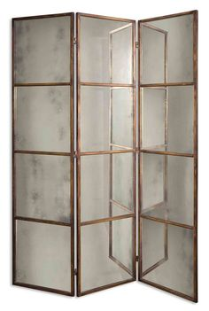 Antiqued Mirrored Screen