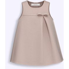 BABY DIOR - Pink and taupe double-sided cashmere dress African Dresses For Kids, Little Girl Dresses, Baby Girl Fashion, Kids Fashion, Fashion Sewing, Womens Fashion, Kids Dress Wear, Dress Girl, Baby Dior
