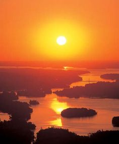The Thousand Islands.