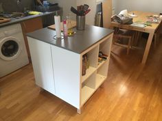Ilot de cuisine style IKEA pas cher