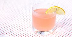 Rhubarb Blush:  1 oz rhubarb simple syrup // 1/2 oz lemon juice // 1 1/2 oz gin // splash of soda water // lemon to garnish