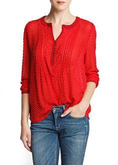 c45a99ea551 Silk and cotton plumeti blouse - Women