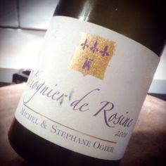 Viognier de Rosine 2008. Limes, rosewater, cut grass, fresh apricots. Rich but energetic thanks to gd acidity. Super.