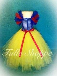 Snow White Tutu Dress Snow White Tutu, Snow White Dresses, Snow White Costume, Disney Tutu, Disney Princess Tutu, Girls Dress Up, Tutus For Girls, Diy For Girls, Princess Tutu Dresses