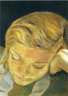 Girl with a White Dog - Lucian Freud- WikiPaintings.org