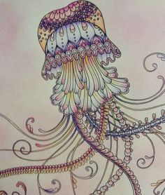 Lost Ocean by Johanna Basford on Pinterest | Ocean, Jellyfish and ...