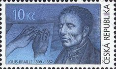 2009 Czech Republic Bicentenary of the Birth of Louis Braille 1809-1852