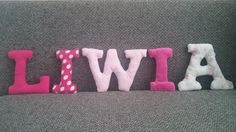 textile letters for my daughter