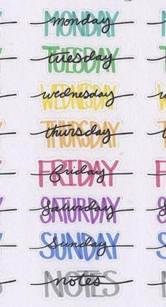 COLORFUL WEEKDAY HEADER sticker Hand drawn BuJo style - COLORFUL DAY OF THE WEEK Header Sticker Hand Drawn BuJo Style Etsy - BuJo colorful drawn FurnitureDesign GraphicDesign Hand header LogosDesign sticker style Typography weekday Dessin Facile, Dessin Au Crayon, Dessin Graphique, Dessin Princesse, Dessin Personnage, Dessin Noir Et Blanc, Dessin Manga, Dessin Tatouage, Dessin Disney, Dessin Visage, Dessin Realiste, Dessin Fille. #dessinnature #dessininspiration #dessinange #dessinchien Bullet Journal Headers, Bullet Journal Banner, Bullet Journal Writing, Bullet Journal 2019, Bullet Journal Aesthetic, Bullet Journal Ideas Pages, Bullet Journal Inspiration, Bullet Journal Hand Lettering, Daily Journal