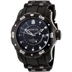 Invicta Men's 6996 Pro Diver Collection GMT Black Dial Black Polyurethane Watch (Watch)  http://www.1-in-30.com/crt.php?p=B003MYUSQW  B003MYUSQW