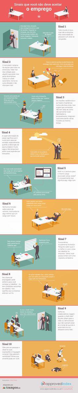 Infográfico: sinais de que você não deve aceitar o emprego.