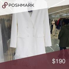 WHITE JACKET DRESS High End jacket dress ..One word to describe :Class Dresses Mini Jacket Dress, Fashion Tips, Fashion Design, Fashion Trends, Best Deals, Coat, Mini, Womens Fashion, Jackets