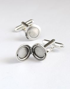 Silver Locket Cuff Links. Father's Day. $22.00, via Etsy.