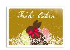 Ostergruß Vintage Hase  Versenden Sie Ihre Ostergrüße mit der Postkarte Vintage Hase!  Freude an Ostern verschenken!  Die Postkarte zu Ostern im angesagten Vintage-Look gibt es in sieben Farbkombinationen.