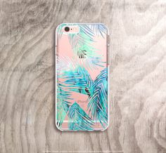 iPhone 6s Plus Case Clear Tropical Leaves iPhone Case Clear iPhone 6s Case Clear Mint iPhone 6s Case Samsung Note 5 Case Clear Palm Trees by casesbycsera on Etsy https://www.etsy.com/listing/261806839/iphone-6s-plus-case-clear-tropical