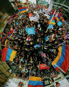 #april24 2016 #RallyForJustice  in #LA . . . . . . . #armeniangenocide #littleplanet #theta360 #MarchForJustice #360pic by zhirayra