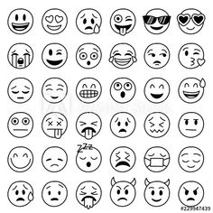 Smiley face emoji or yellow emoticons in glossy realistic isolated in white background, vector illustration. Smiley face emoji or yellow emoticons in glossy realistic isolated in white background, Smiley Emoji, Emoji Set, Emoji Faces, Smileys, Funny Emoticons, Emoji Chart, Emoji Tattoo, Emoji Coloring Pages, Emoji Drawings