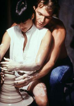 "Demi Moore & Patrick Swayze in ""Ghost""."