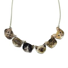 Kitten Faces Necklace | Punky Pins