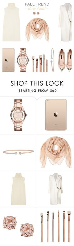 """""""Fall Trend - Rose Gold"""" by rachaelselina ❤ liked on Polyvore featuring Marc by Marc Jacobs, Forevermark, Alexander McQueen, Helmut Lang, Louis Vuitton and Victoria Beckham"""