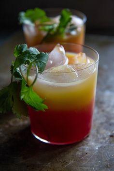 Tequila, Beet & Orange Cocktail
