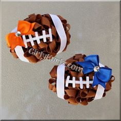 Football Hair Bow Football Bow NFL Hair Bow Football by GirlyKurlz, $19.50