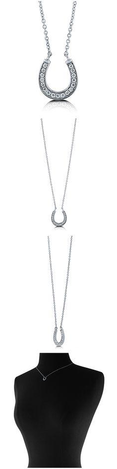 Sterling Silver CZ Horseshoe Fashion Necklace