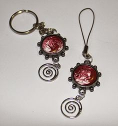 Keyring and Bag charm - made using Spellbinders Bezels and my Melt Pot!