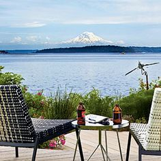 """""""The three great elemental sounds in nature are the sound of rain, the sound of wind in a primeval wood, and the sound of outer ocean on a beach."""" - Henry Beston  Photo in Bainbridge Island, Washington"""