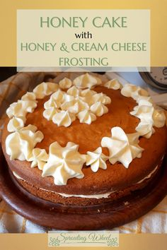 When the sun is shining, and you can hear the bees buzzing, what better to eat than a slice of honey cake. This cake is ever so slightly sweet, which is perfect for those sunny afternoons where you just want something light. And topped with a tangy but sweet cream cheese frosting, it is sure to be very moreish. Cake With Cream Cheese, Cream Cheese Frosting, Honey Cake, Vegetarian Cheese, Bees, Birthday Cake, Sun, Cooking, Ethnic Recipes