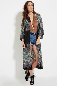 Style Deals - A short-sleeved kimono crafted from semi-sheer woven ...