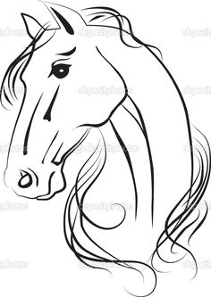 How to create a horse head drawing using pencil step by step isolated drawing of horse head foto de stock depositphotos ccuart Choice Image