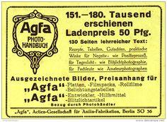 Original-Werbung/Inserat/Anzeige 1917 -  AGFA -  ca. 140 x 100 mm