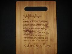 Custom cutting board for Susan from 3DCarving on Etsy