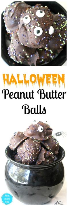 A yummy Halloween Desssert, this holiday recipe for Halloween Peanut Butter Balls is so easy and the kids will love them! @Crisco #ad #CriscoCoconutOil #IC