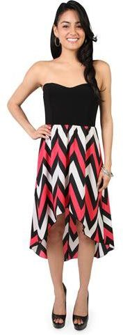 #Deb Shops                #Skirt                    #strapless #casual #dress #with #high #chevron #print #skirt                  strapless casual dress with high low chevron print skirt                                                http://www.seapai.com/product.aspx?PID=1871336
